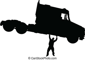 caminhão, elevador