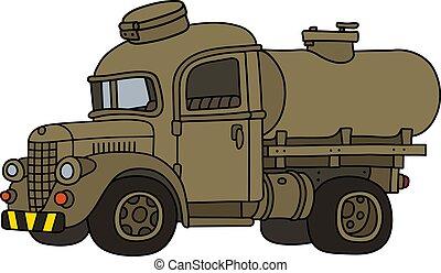 caminhão, engraçado, militar, antigas, tanque, areia