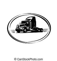caminhão entrega, carga