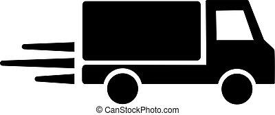 caminhão entrega, velocidade