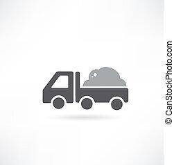 caminhão, entulho