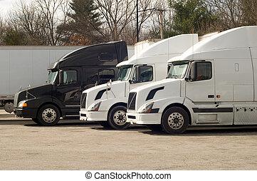 caminhão, estacionamento