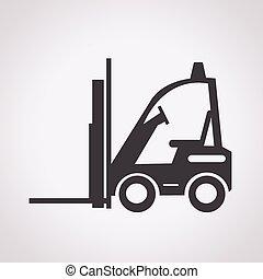 caminhão forklift, ícone
