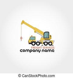 caminhão, guindaste, -, companhia, nome