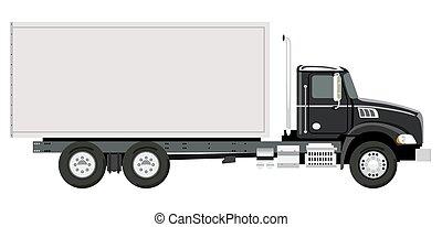caminhão, lado