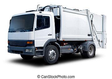 caminhão, lixo