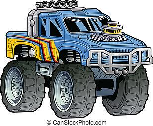 caminhão, monstro