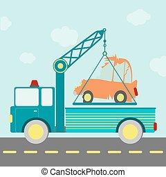 caminhão, reboque