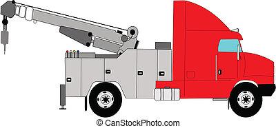 caminhão reboque, dever, pesado