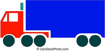 caminhão, recipiente