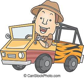 caminhão, safari