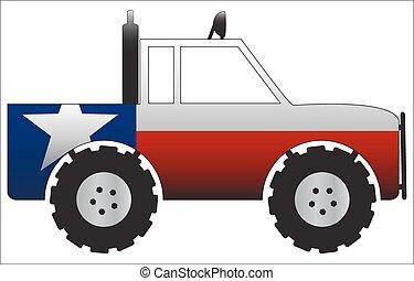 caminhão, texas