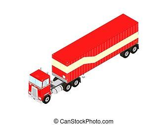 caminhão, trator, semitrailer.