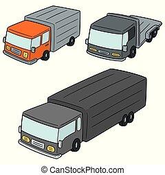 caminhão, vetorial, jogo