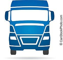 caminhão, vetorial, logotipo