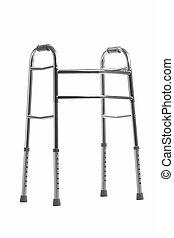 caminhante, sobre, ortopédico, branca, equipamento
