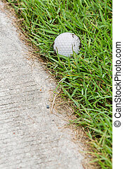 caminho, bola, carro golf