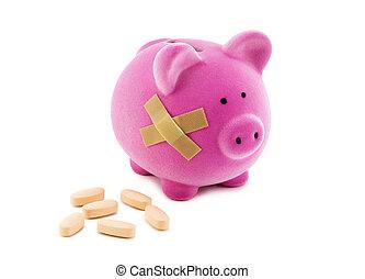 caminho, costs., incluir, saúde, cortando