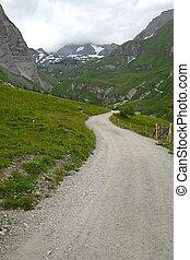 caminho montês, em, alpes