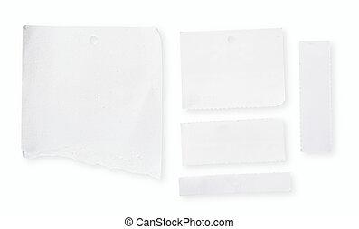 caminho, papel, cortando, em branco, branca