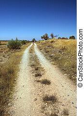 caminho sujeira