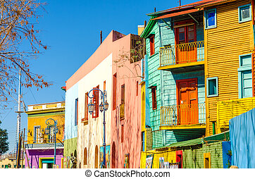 Caminito Street in Buenos Aires - Bright colors of Caminito...