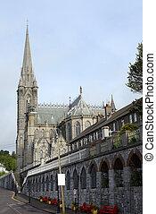 camino, a, cobh, catedral