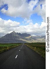 camino, a, el, colinas