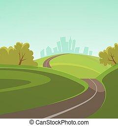 camino, a, la ciudad