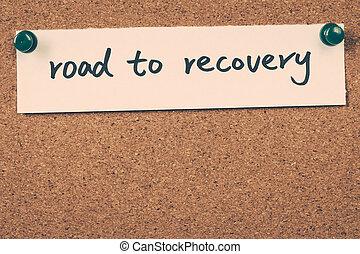 camino, a, recuperación