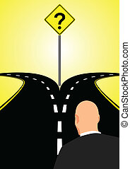camino bifurcado