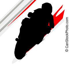 camino, curva, moto, motocicleta compite, amarillo, ciclista, pista, superbike, biker, turn., sideline., irlandés, isla, carrera, seguridad, gp, carreras, pista, hombre