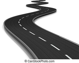 camino curvado