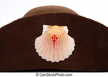 Camino de Santiago de Compostela - hat pilgrim road to...