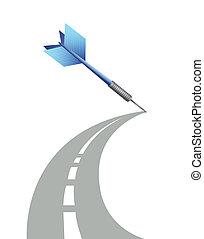 camino, destino, ilustración, diseño