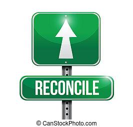 camino, diseño, reconciliar, ilustración, señal