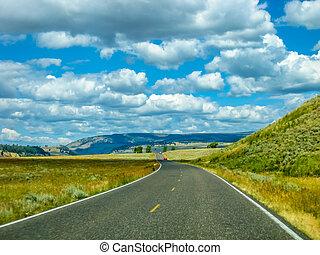 camino, en, yellowstone