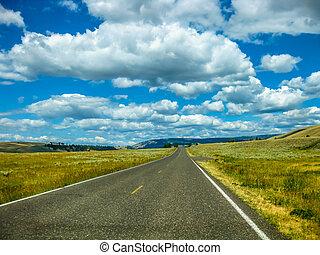 camino, en, yellowstone national park