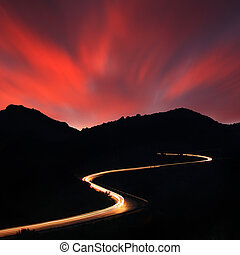 camino, noche