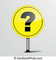 camino, pregunta, señal, marca