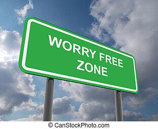 camino, preocupación, zona, libre, señal