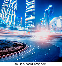 camino, y, urbano, plano de fondo