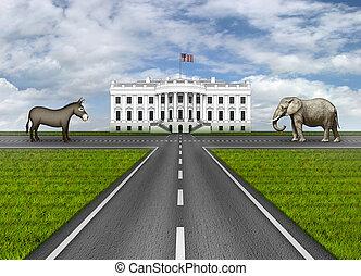 caminos, a, la casa blanca