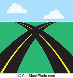 caminos, cruzados