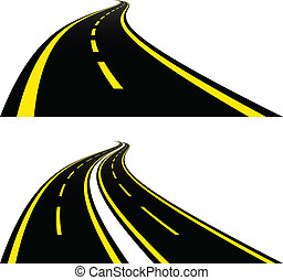 caminos, vector