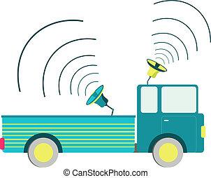 camion, altoparlante