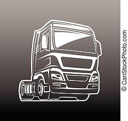 camion cargaison, fret, gabarit, logo