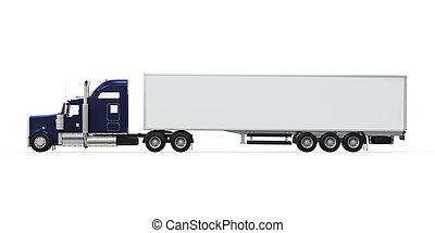 camion cargaison, isolé
