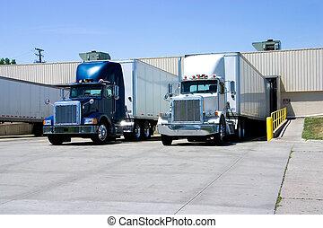 camion, caricamento