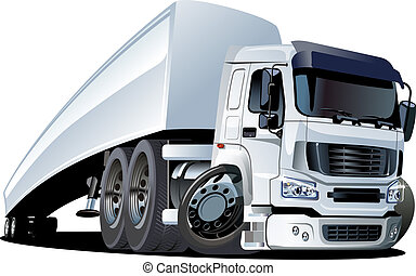 camion, cartone animato, semi